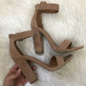 Shoes - Taupe Ankle strap heels